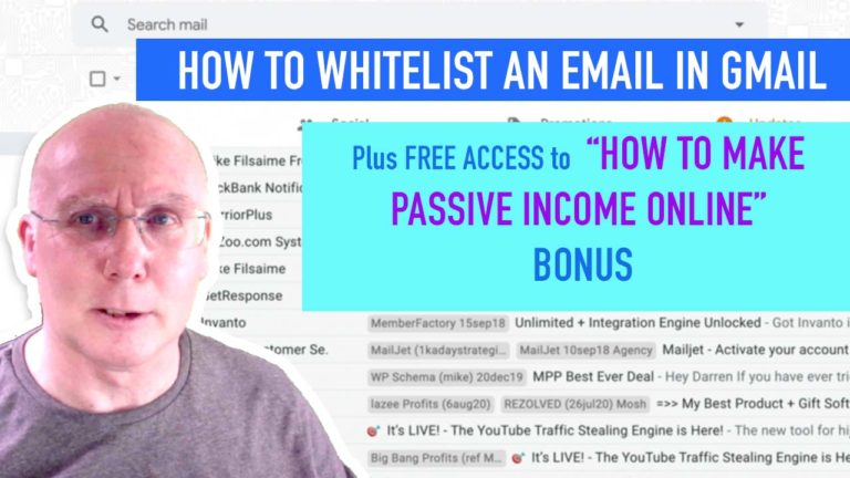how to whitelist email in gmail