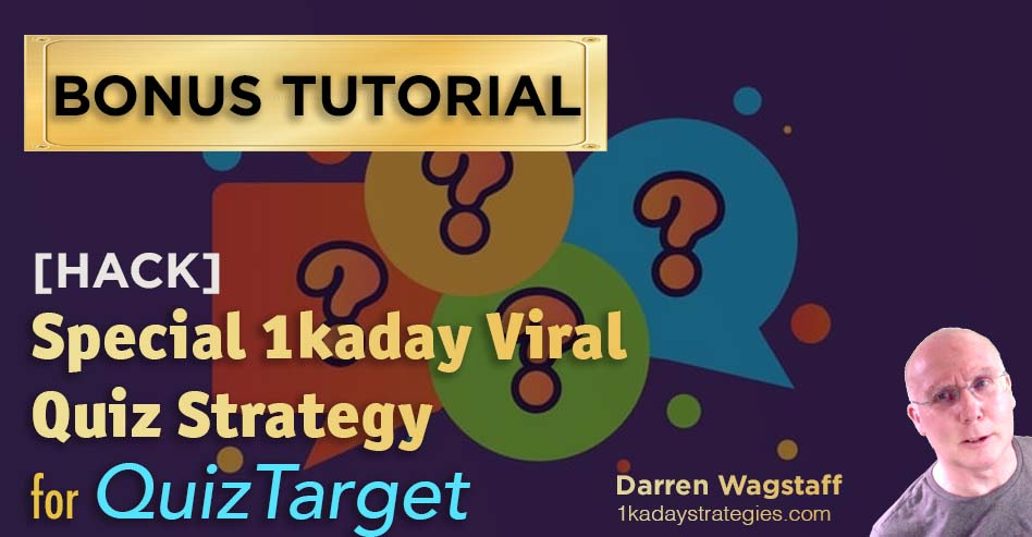 QuizTarget 1kaday Strategy