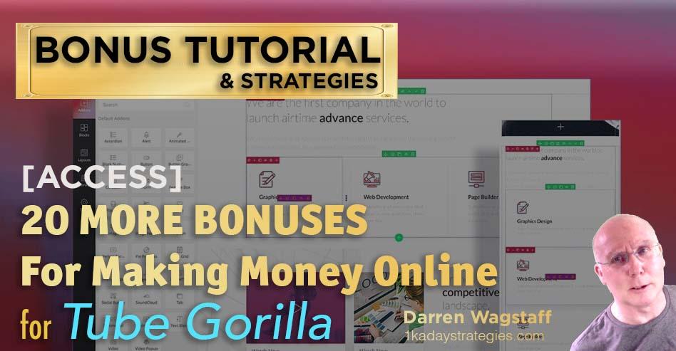 Tube Gorilla 20 more Bonuses