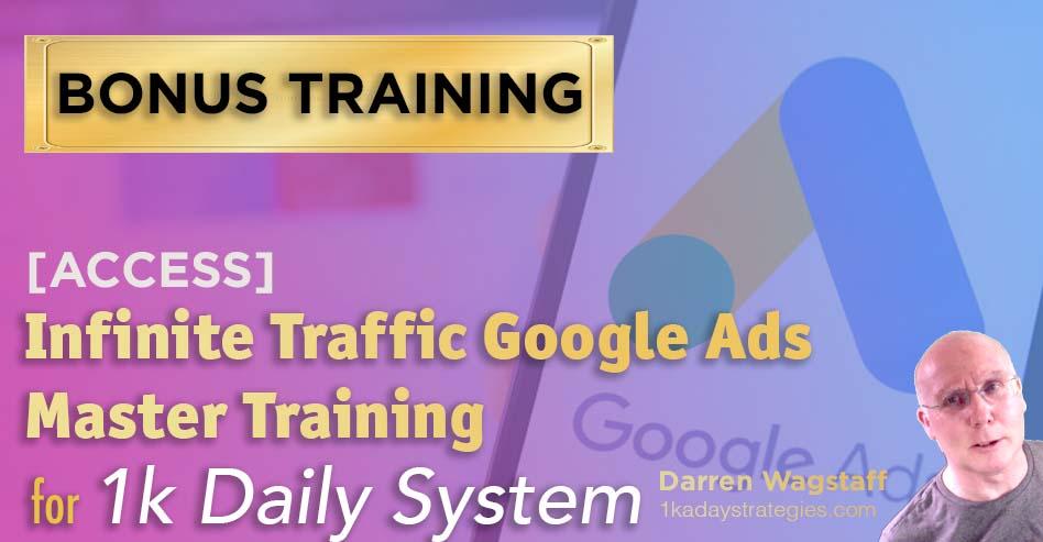 1k Daily Bonus Google Ads