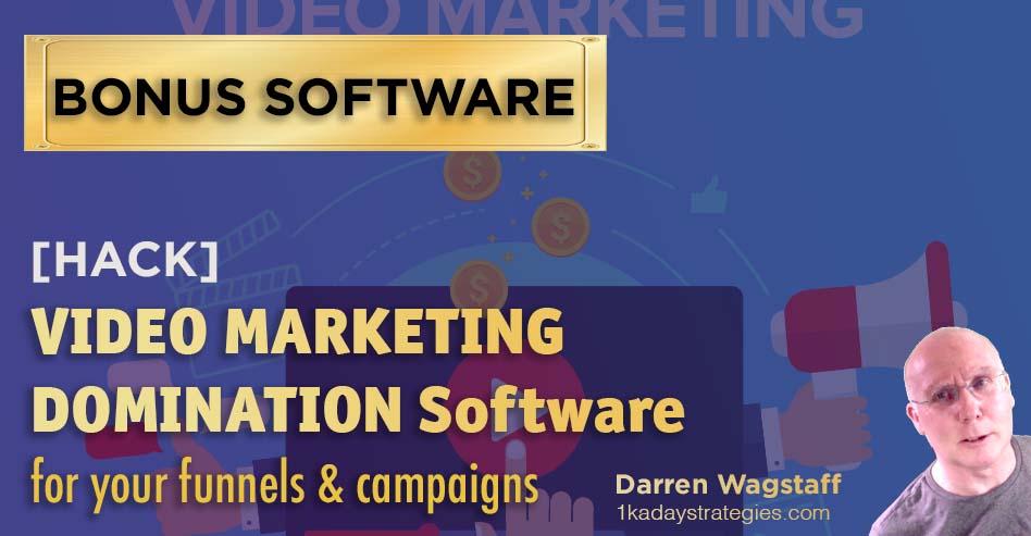 Bonus Video Marketing Software