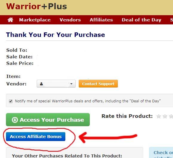 access warriorplus bonuses